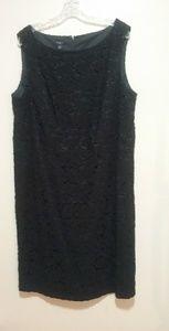 Talbots Black Lace Dress